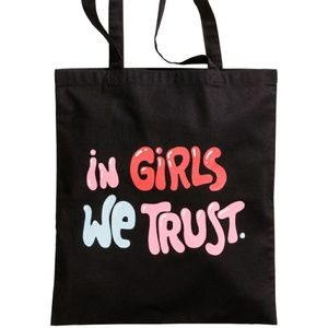 "NWT H&M ""In Girls We Trust"" Tote Bag"